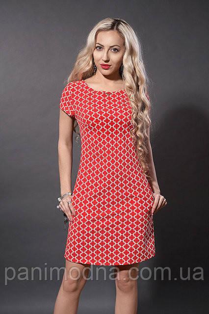 """Яркое весеннее платье  - """"Крамель"""" код 277"""