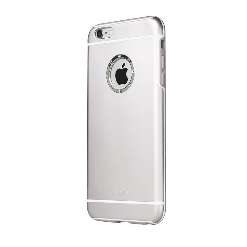Чехол со стразами iBacks Armour Crystal Cartier серебристый для iPhone 6/6S Plus