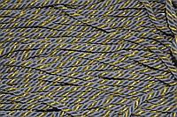 Канат декоративный 6мм мягкий (50м) св.серый+золото, фото 1