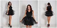 Женское платье с юбкой из фатина BLACK