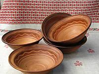 Глиняная миска борщовая 0,6 ручной работы