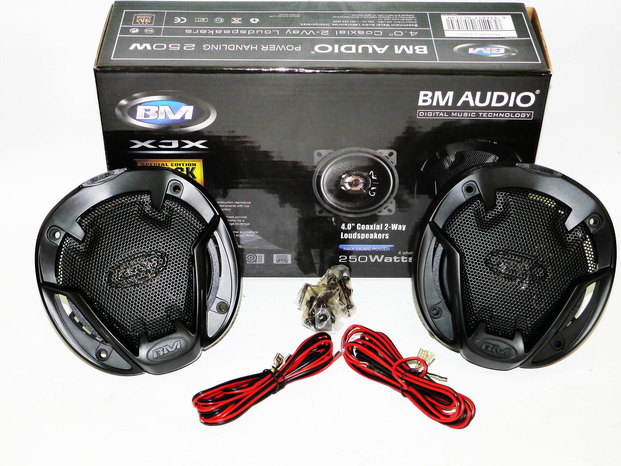 Автомобильная акустика BOSCHMANN BM AUDIO XJ1-G434T2 10см 250W 2х полосная