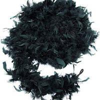 Боа перьевое эконом (черное) 270216-139