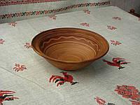 Глиняная миска борщовая 0,6 с бортиком ручной работы