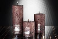 Декоративная дизайнерская свеча  Цилиндр коричневый 60/100mm