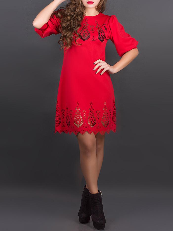 """Ажурное красивое платье """"Айсель Рэд"""", размеры от 44 по 52"""