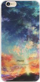 """Прозрачный пластиковый чехол """"небо"""" iphone 6/6S в 3D"""