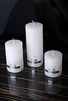 Декоративная дизайнерская свеча  Цилиндр белый 60/70mm