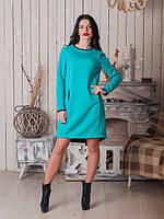 Модное платье с небольшими контрастными вставками