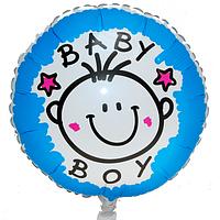 Шар фольгированный Круглый на Рождения Ребенка (Мальчик/Девочка)