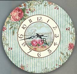 """Настенные часы """"Розы"""" (30х30 см) [Акрил, Открытые]"""