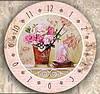 """Настенные часы """"Розы в вазе"""" (35х35 см) [Акрил, Открытые]"""