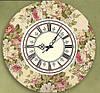 """Часы настенные в стиле кантри """"Пионы"""" (35х35 см) [Акрил, Открытые]"""