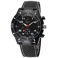 Часы мужские наручные кварцевые водонепроницаемые противоударные 4QKQ черные, белые, черно-белые