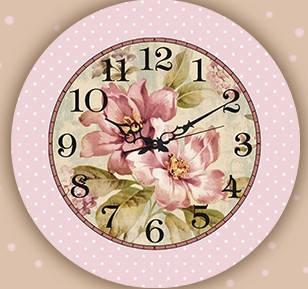 """Настенные часы """"Цветы"""" (30х30 см) [Акрил, Открытые]"""