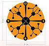 """Необычные настенные часы """"Молекулярные связи"""" (31x31 см) [Акрил, Открытые]"""