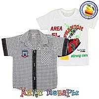 Рубашка и Футболка мальчик Размеры: 2-3-4 года (5066-4) (Рисунок на футболке может меняться)