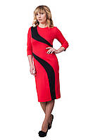 Платье Зигзаг удачи 0224_2 Красное_с чёрным