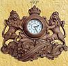 Часы из дерева (49х43х7 см) [Дерево]