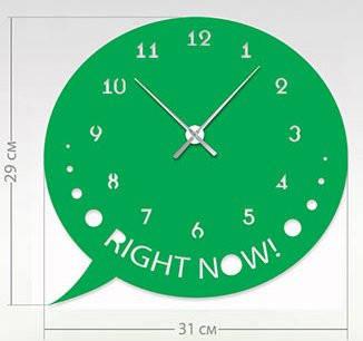 """Настенные часы """"Сообщение"""" (31x29 см) [Акрил, Открытые]"""