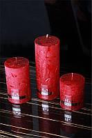 Декоративная дизайнерская свеча  Цилиндр красный 60/100mm