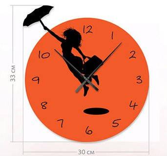 """Детские настенные часы """"Мэри Поппинс"""" (30x33 см) [Акрил, Открытые]"""