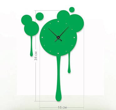 """Настенные часы """"Клякса"""" (16x34 см) [Акрил, Открытые]"""
