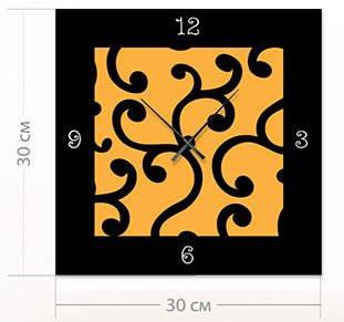 """Настенные часы """"Орнамент"""" (30x30 см) [Акрил, Открытые]"""