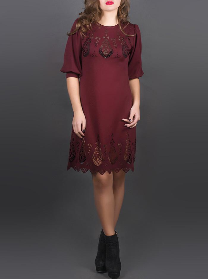 """Красивое женское платье """"Айсель Бордо"""", размеры от 44 по 52"""