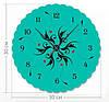 """Часы настенные модерн """"Растительный узор"""" (30x30 см) [Акрил, Открытые]"""