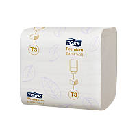 Туалетная бумага листовая Tork Premium супер мягкая