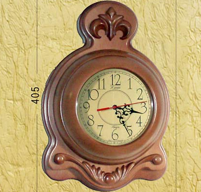 Часы из дерева (40,5х27,5 см) [Дерево]