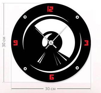 """Настенные часы """"Скорость"""" (30x30 см) [Акрил, Открытые]"""