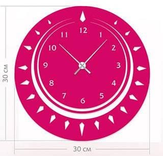 """Настенные часы """"Фантазия"""" (30x30 см) [Акрил, Открытые]"""