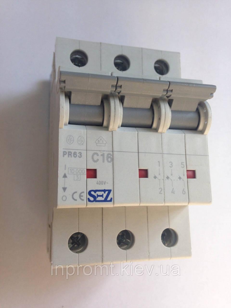 Автоматический выключатель PR63С16
