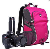 Фоторюкзак универсальный для фотоапаратов Canon EOS, Nikon, Sony, Olympus, Кэнон, Никон, Олимпус, Сони