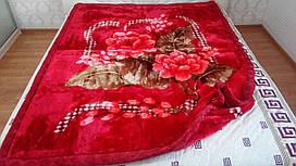 Плед акриловый 150*200 толстый цветы