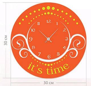 """Настенные часы """"Узоры"""" (30x30 см) [Акрил, Открытые]"""