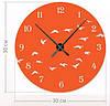 """Настенные часы """"Чайки"""" (30x30 см) [Акрил, Открытые]"""