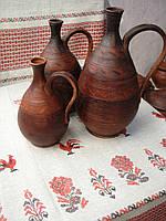 Глиняный кувшин для вина 3 л ручной работы