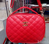 Женский стёганый клатч Chanel (Шанель), красный