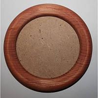 Рамка деревянная круглая 8,5 см (темное дерево)