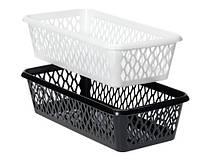 Ящик пластиковый для хранения 10Х20 см черные и белые