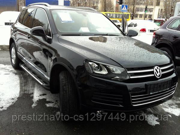 "Пороги боковые ""Sapphire"" V2 на Volkswagen Touareg"
