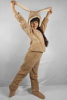 Подростковый махровый костюм с ушками 12,14 лет