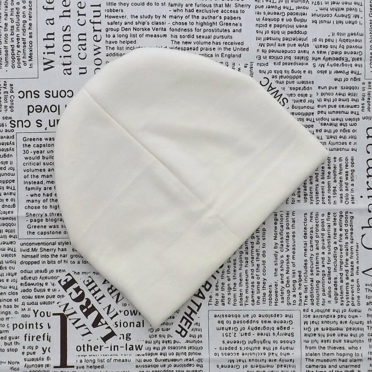 Шапка трикотажная с флисовой подкладкой от 1 года до 3 лет
