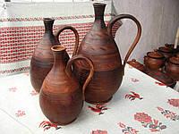 Глиняный кувшин для вина 2 л ручной работы