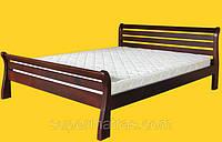 Кровать из натурального дерева Тис Ретро