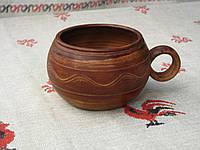 Глиняная чашка бочонок ручной работы