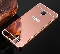Чехол для Meizu M3s / M3 / M3 mini зеркальный розовый